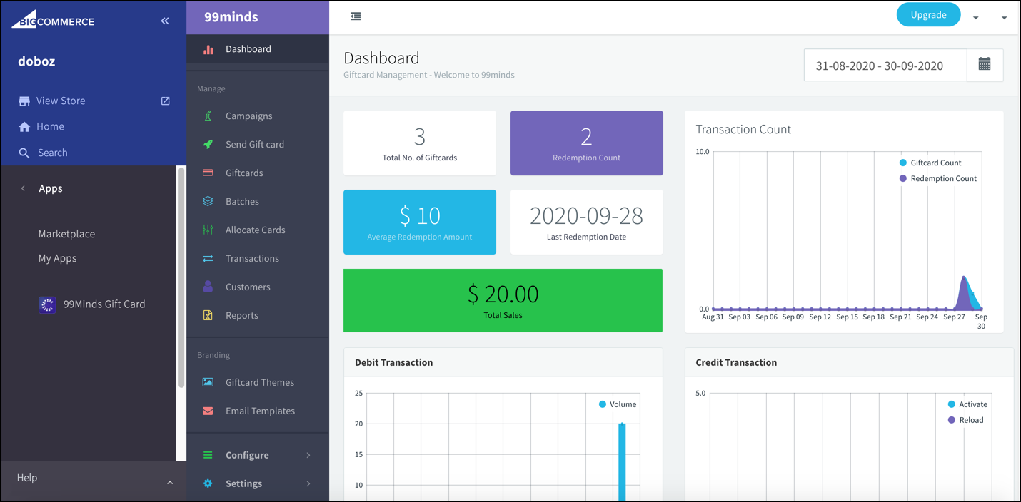 99minds_Dashboard_in_BigCommerce.png